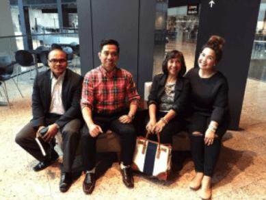 TFCC Team with Engr. Lulu Lugue (R-L Abel, Jerry, Lulu, Hanes)