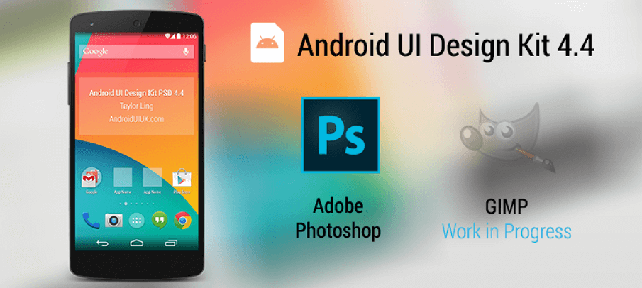 Android UI Design Kit 4.4