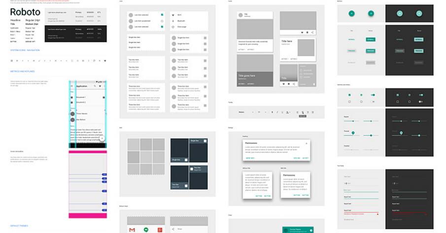 Google Material Design UI Sketch Resource