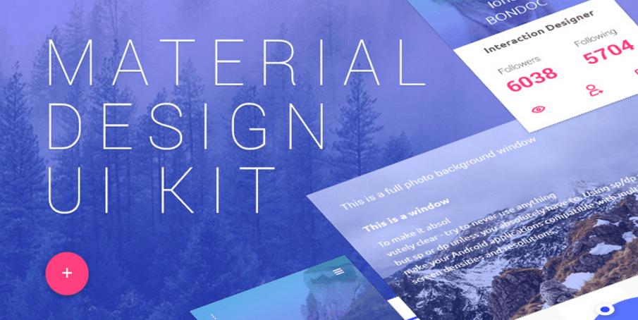 Free Material Design UI Kit
