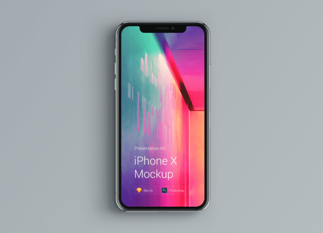 2. UPD. iPhone X Mockup Changeable Color