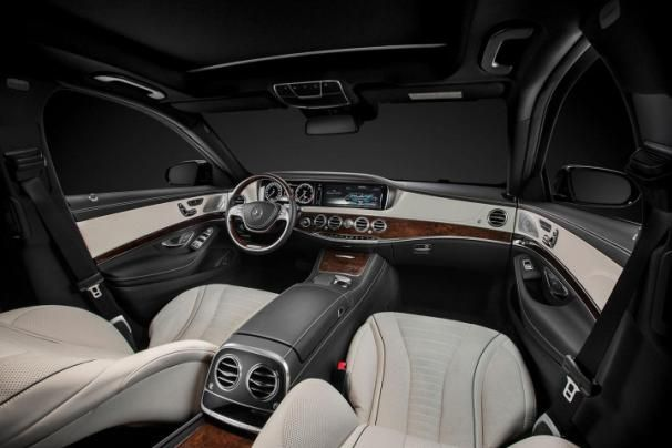 2015 Mercedes Benz S550's interior
