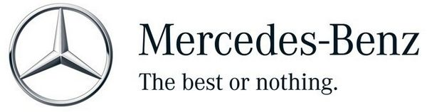 Mercedes-Benz logo and slogan