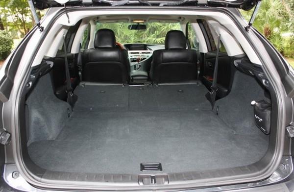 2010 Lexus RX 350 cargo space