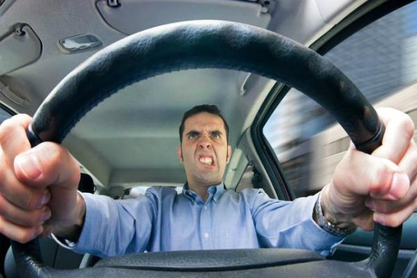 and angry driver