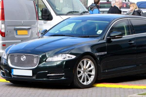The angular front of Jaguar XJ Sentinel