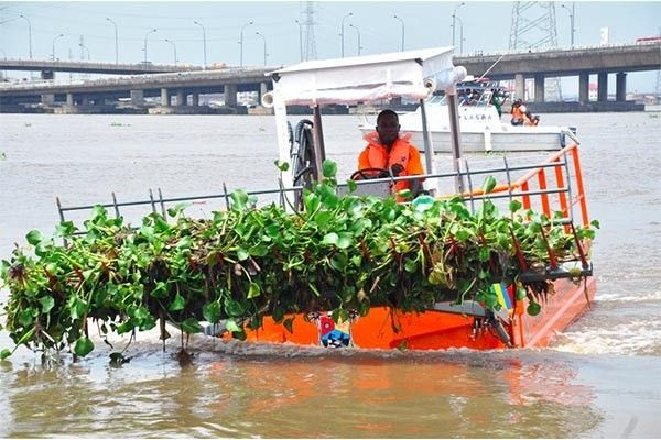The Lagos State Government has just bought a state-of-the-art trash skimmer