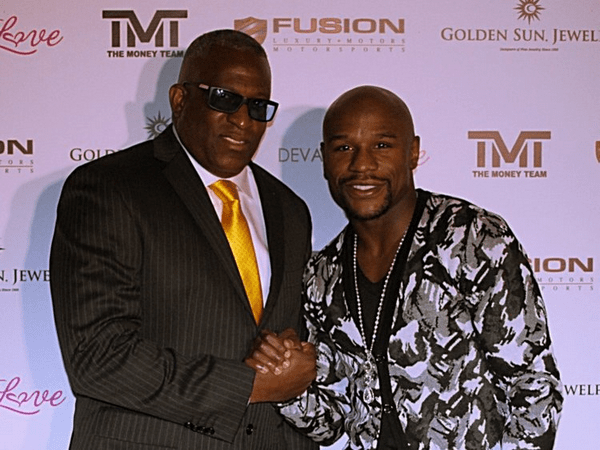 Floyd Mayweather and Obi Okeke