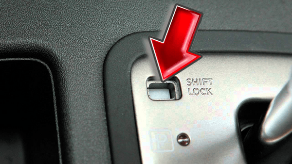 Where to find the shift lock release