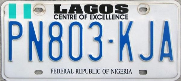 A Lagos number plate