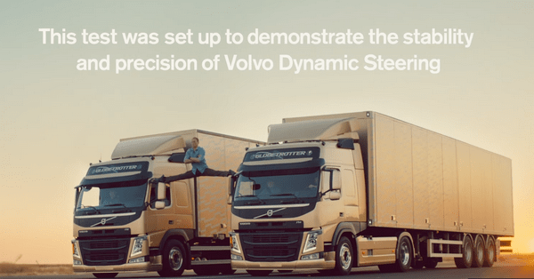 Jean Claude Van Damme in Volvo trucks commercial