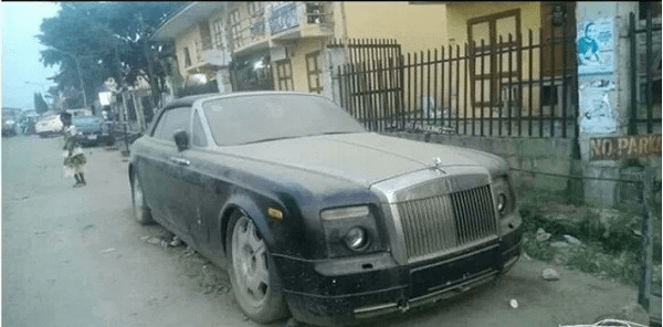 Abandoned Rolls-Royce Phantom DropHead in Lagos