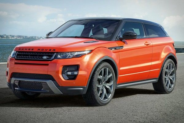an orange Range Rover Evoque car