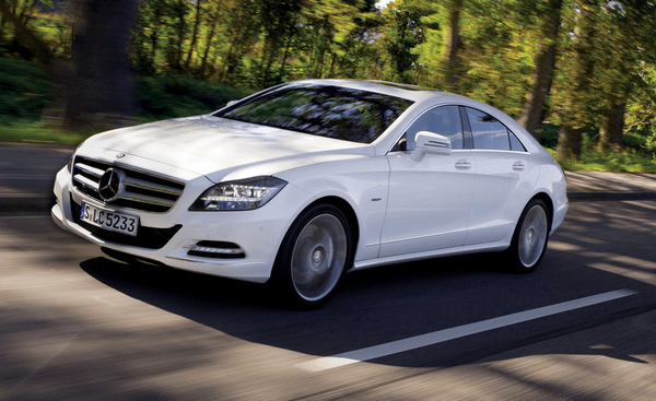Angular front of the Mercedes-Benz CLS-Class