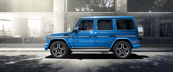 The side of the Mercedes-Benz G-Class