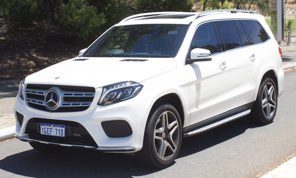 Angular front of the Mercedes-Benz GLS-Class