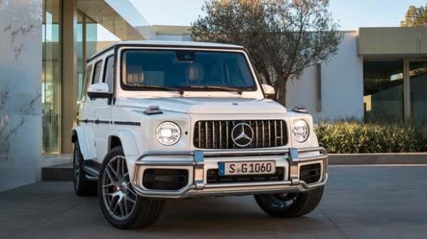a Mercedes G-class