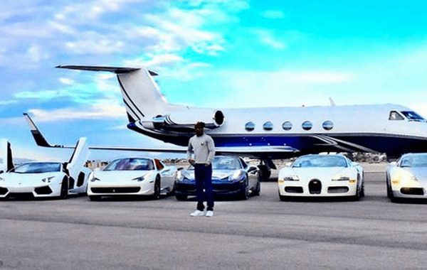 Floyd Mayweather's cars and private jet