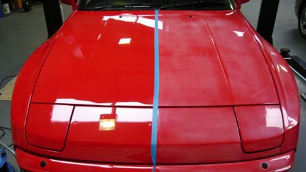 a car hood using car sealant