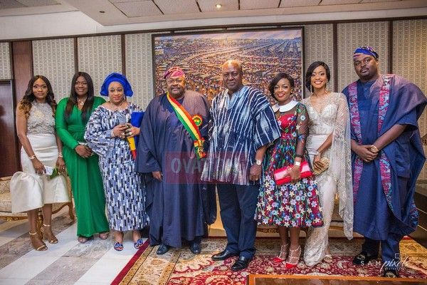 Mike Adenuga and his family