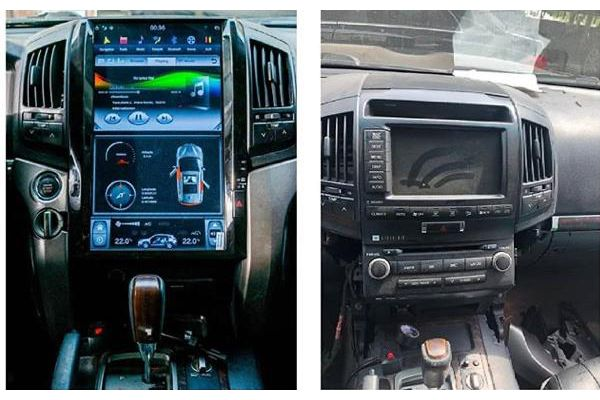 Infotainment system upgrade on a Toyota Landcruiser
