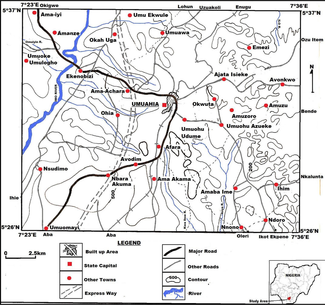 Delineation Of Shallow Aquifers Of Umuahia And Environs
