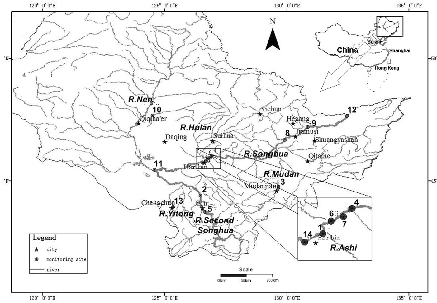 Water Qualityysis Of The Songhua River Basin Using Multivariate Techniques