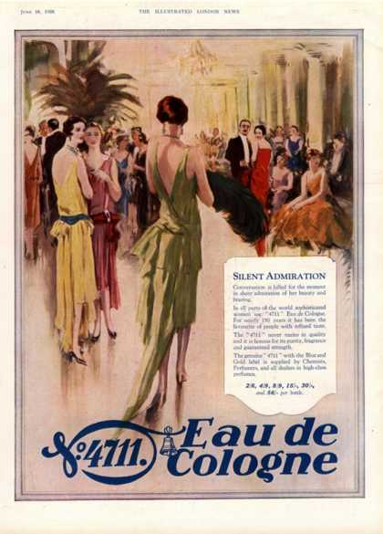 Women's Art Deco Eau De Cologne, UK (1928)