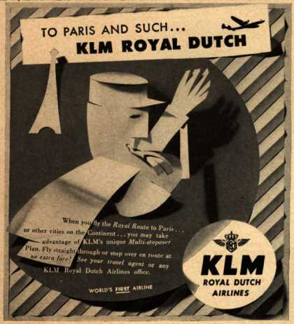 KLM Royal Dutch Airline's Paris – To Paris and Such... KLM Royal Dutch