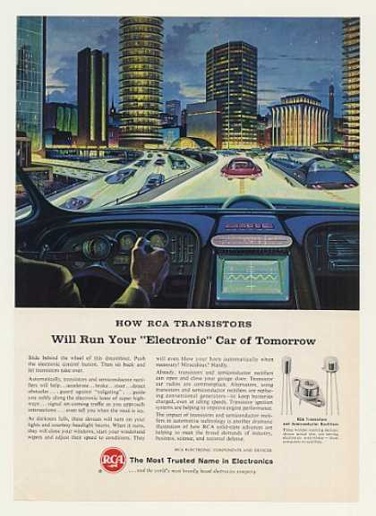 RCA Transistors Run Electronic Car of Tomorrow (1964)