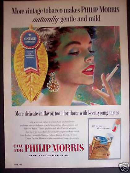 Philip Morris Cigarettes Young Smokers (1955)