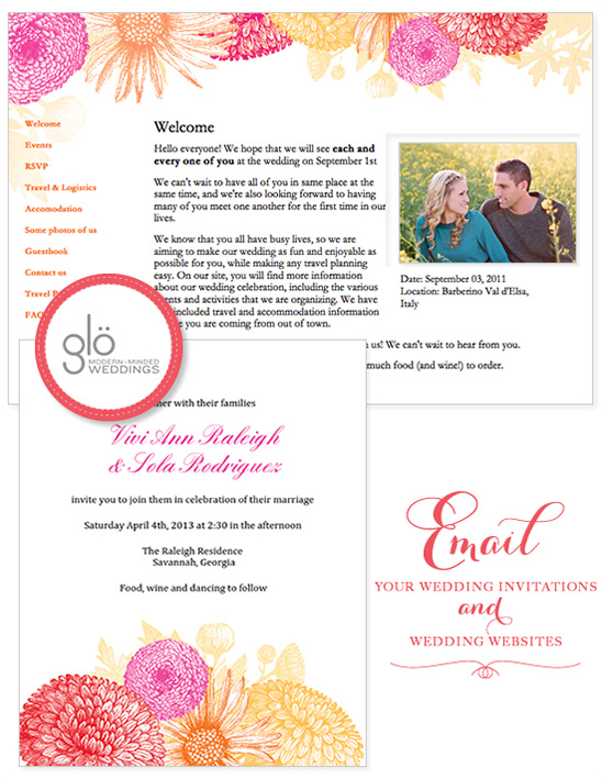 Email Wedding Invitations And Organize Your With Glo
