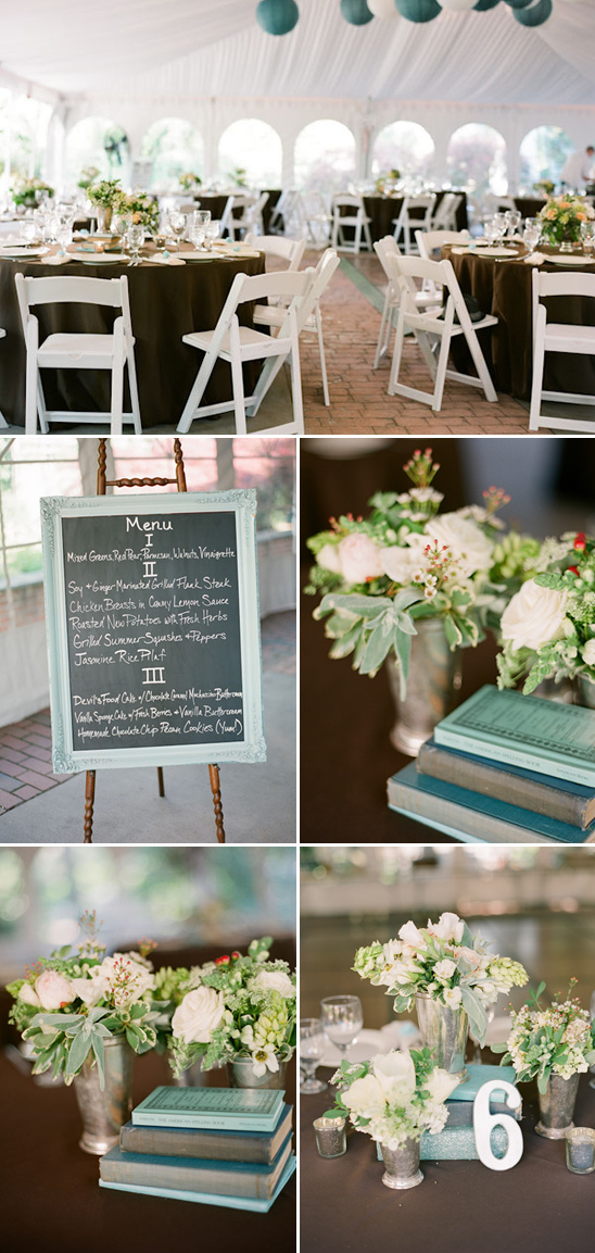 Mocha Brown And Teal Wedding Decorations