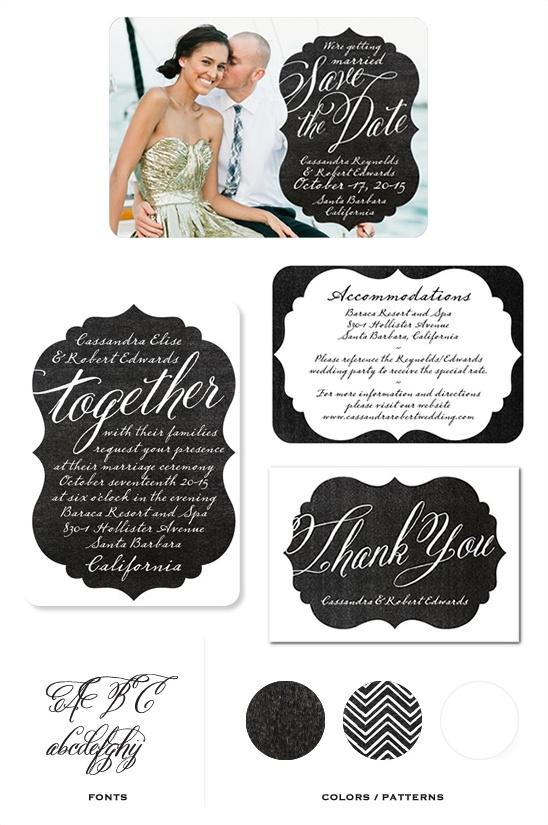 Stylish Wedding Invitation Addressing