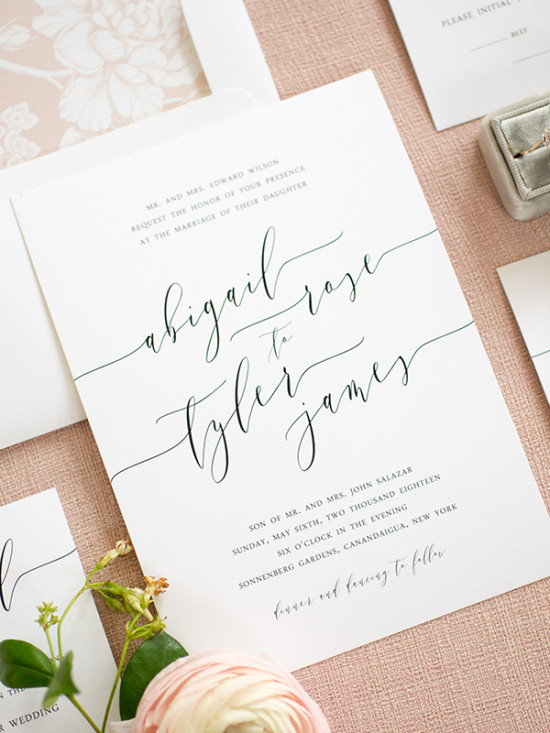Simple Wedding Invitation Cards Designs