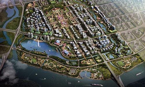 Phối cảnh Khu đô thị mới Bắc sông Cấm