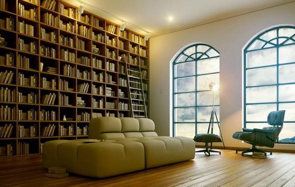 phòng đọc sách đẹp