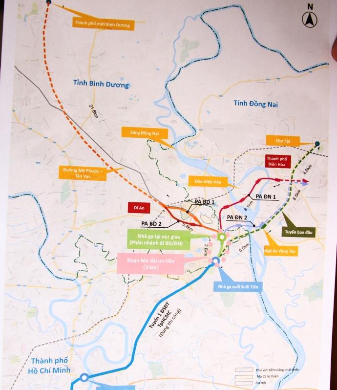 tuyến Metro số 1 đến Biên Hòa (Đồng Nai).