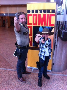 Eamon and Evan Elders as Sheriff and Son.