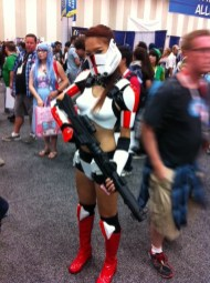 Ginger as a Clone Trooper at SDCC.