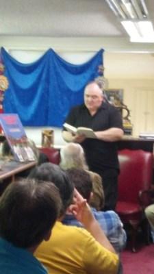 Peter Atkins reading a Johnson work aloud.