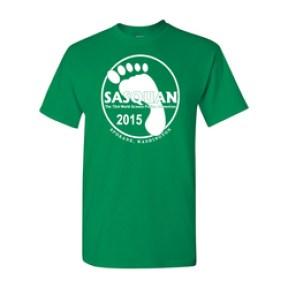 Sasquatch foot t-shirt