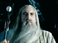 Christopher Lee as Saruman.