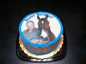 shatner and horse cake