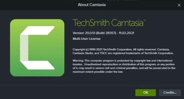Camtasia Activated
