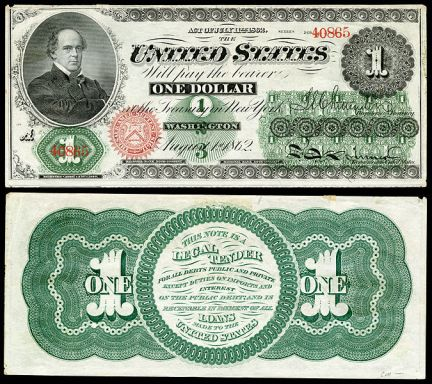 $1 Greenback from 1862