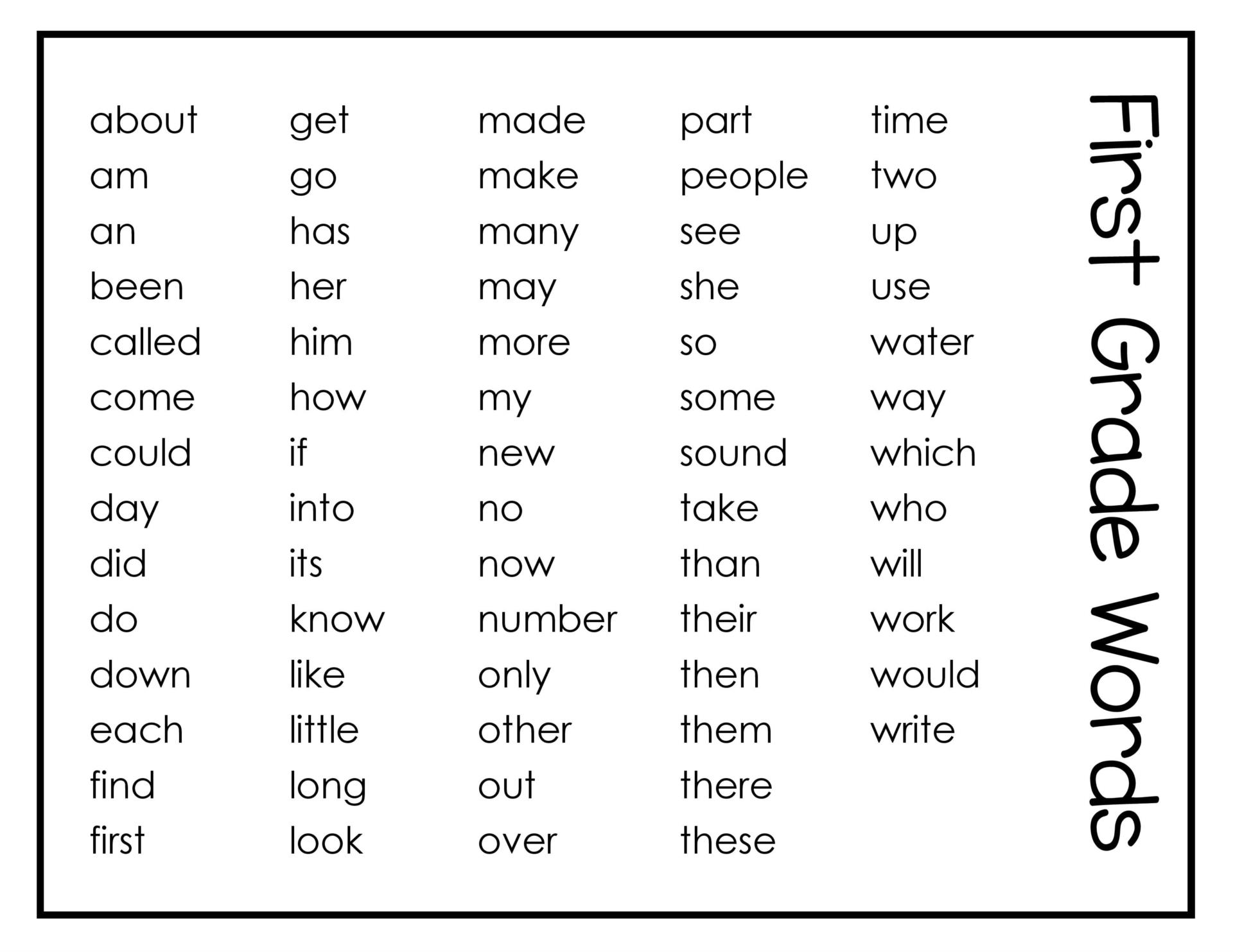 High Frequency Word Said Worksheet
