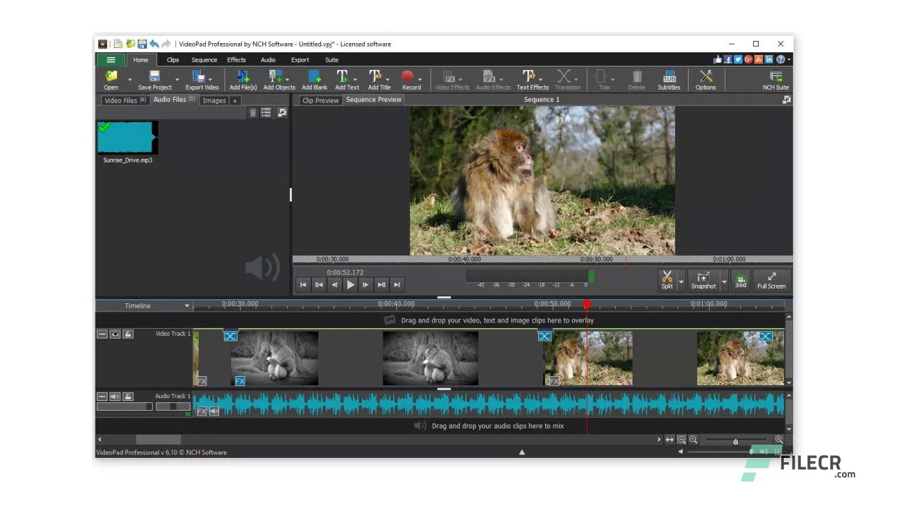 NCH VideoPad Video Editor Professional 8.99 - FileCR