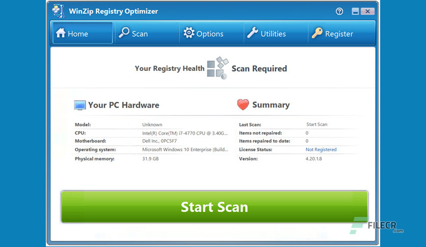 WinZip Registry Optimizer 4.22.2.22 + Crack With License Key Latest 2021 Free Download