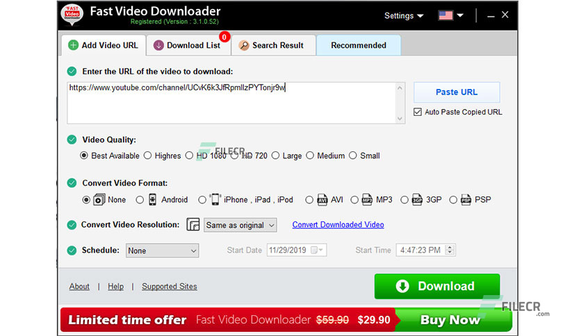 Fast Video Downloader 3.1.0.90